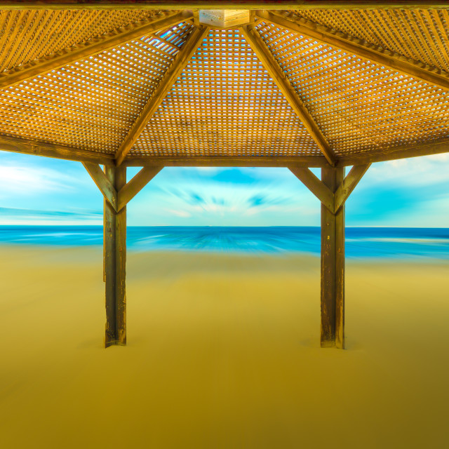 """""""A shed on the beach"""" stock image"""