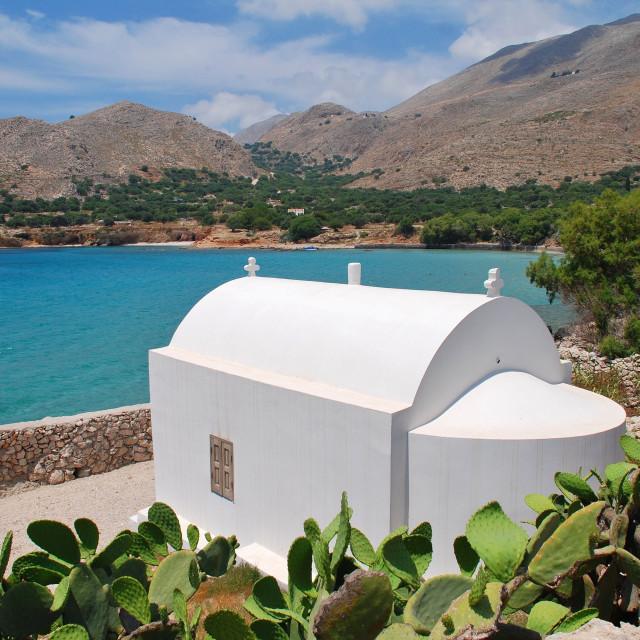 """Pondamos chapel, Chalki"" stock image"