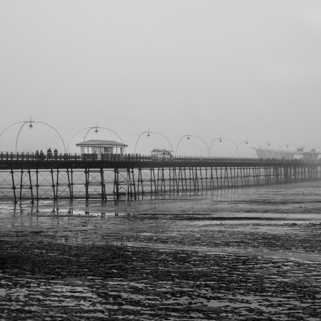 """Foggy Pier"" stock image"