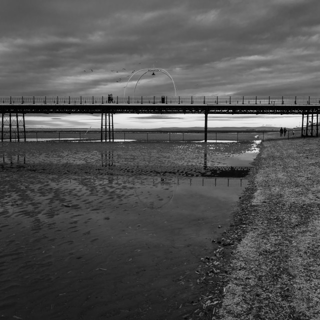 """""""Winter on the Pier"""" stock image"""