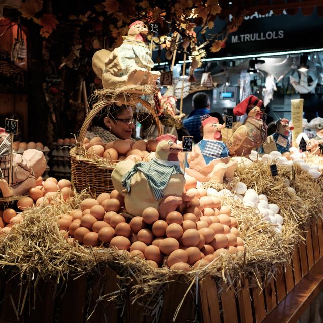 """""""Egg Seller"""" stock image"""