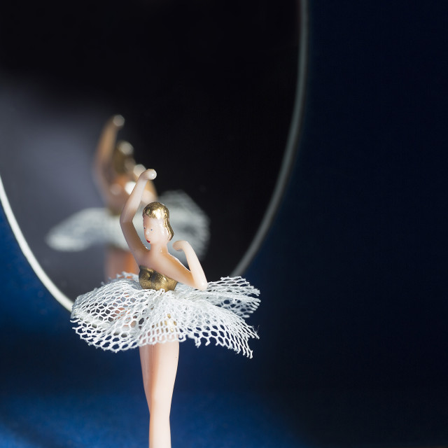 """Music box, ballerina"" stock image"