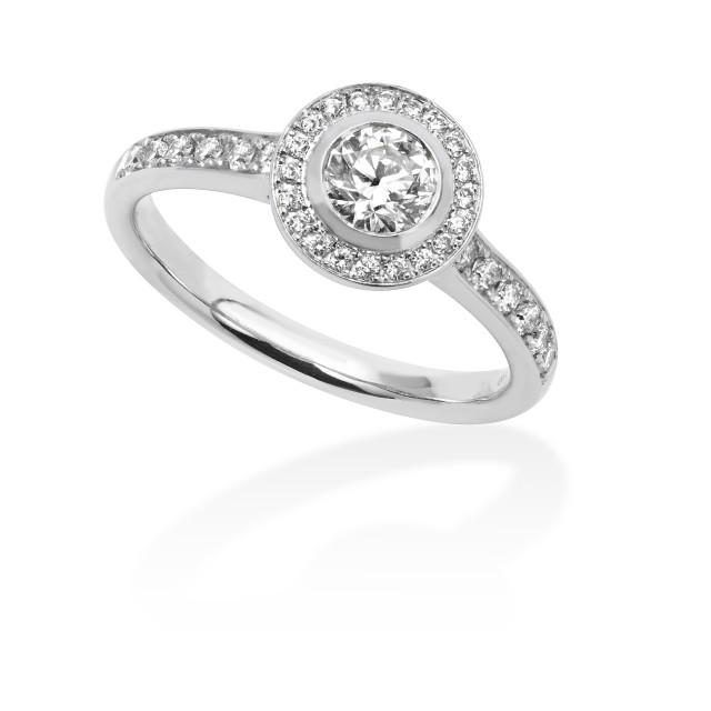 """Diamond set ring"" stock image"