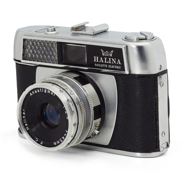 """Halina Paulette 35mm camera"" stock image"