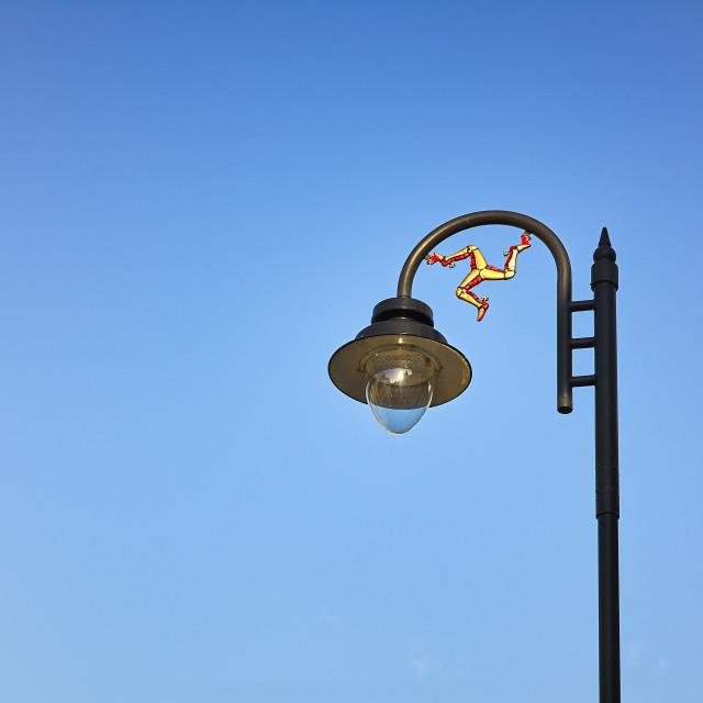 """Manx street lamppost"" stock image"
