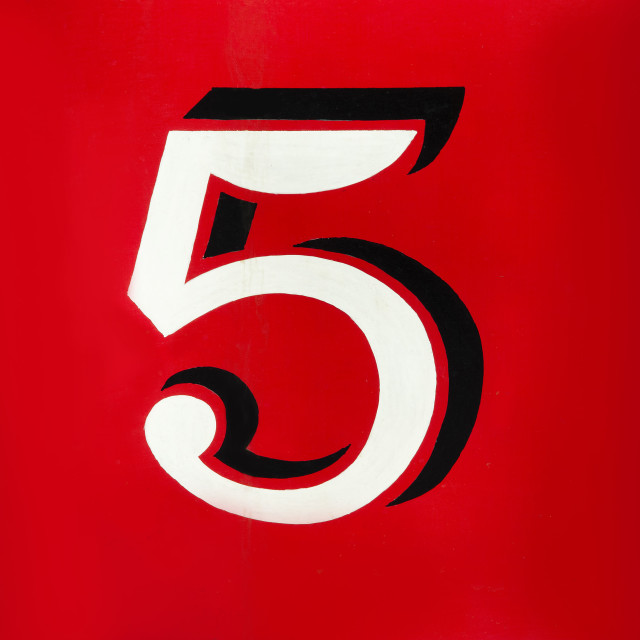 """Number five"" stock image"