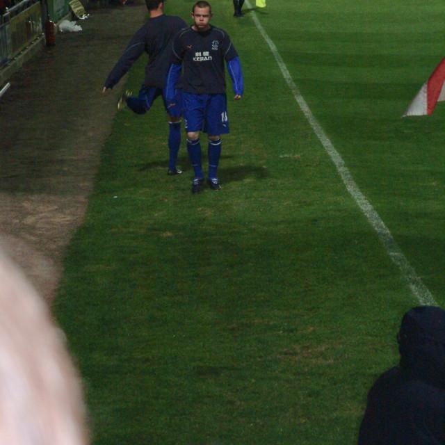 """Rooney at Wrexham"" stock image"