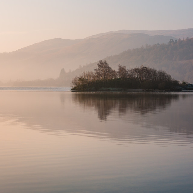 """Island on the loch"" stock image"