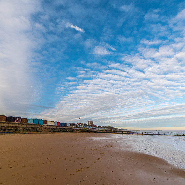 """""""Frinton Seafront A Winter View"""" stock image"""
