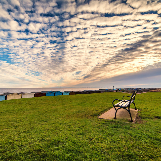 """""""Tranquil Point On Frinton Seafront"""" stock image"""
