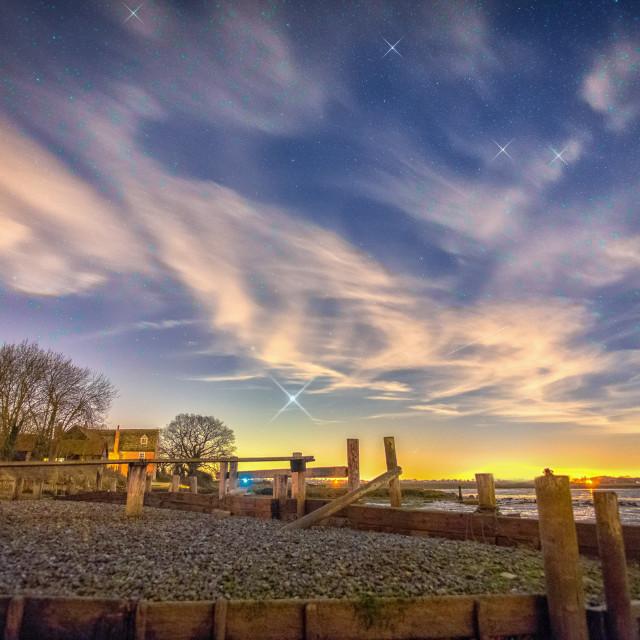 """Landermere Beach Star Scene"" stock image"