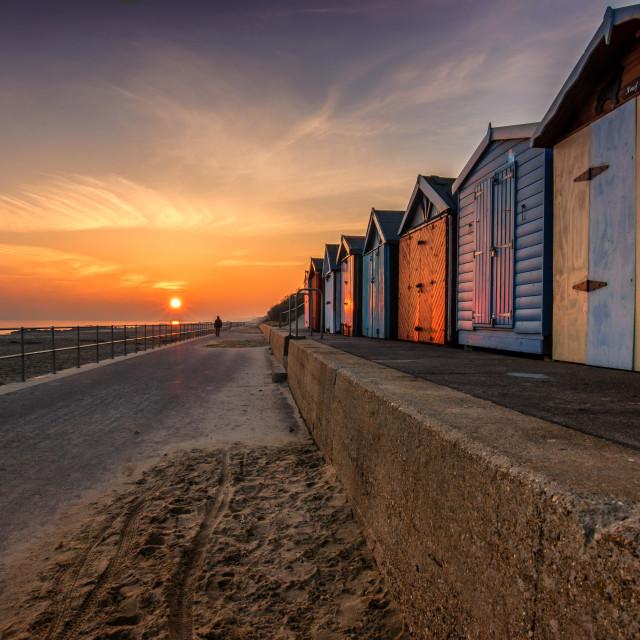 """Sunset Holland On Sea"" stock image"