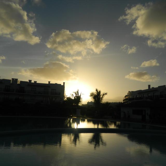 """Cape Verde sunset"" stock image"