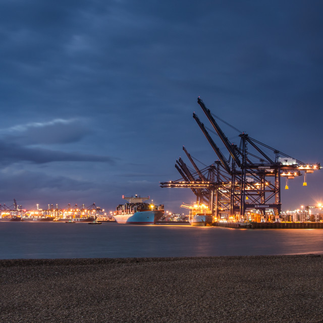 """Port of Felixstowe"" stock image"