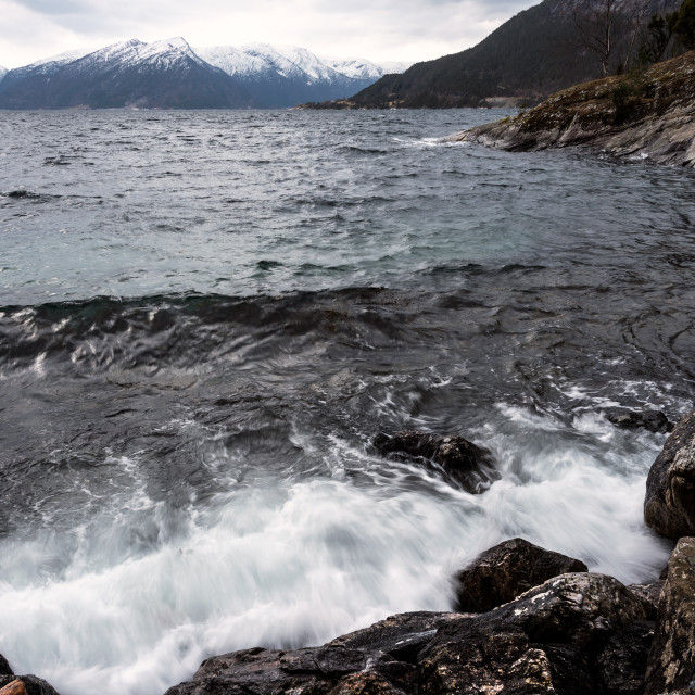 """""""Deep in the Fjords"""" stock image"""