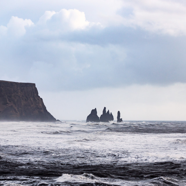 """Reynisdrangar stacks"" stock image"