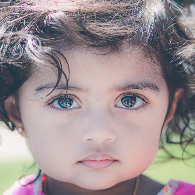 """""""Curls and Eyes"""" stock image"""