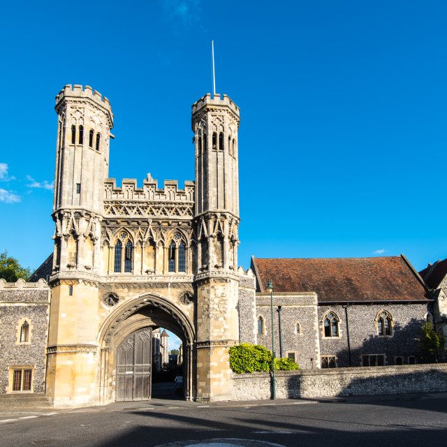 """""""Abbot Fyndon´s Great Gate."""" stock image"""