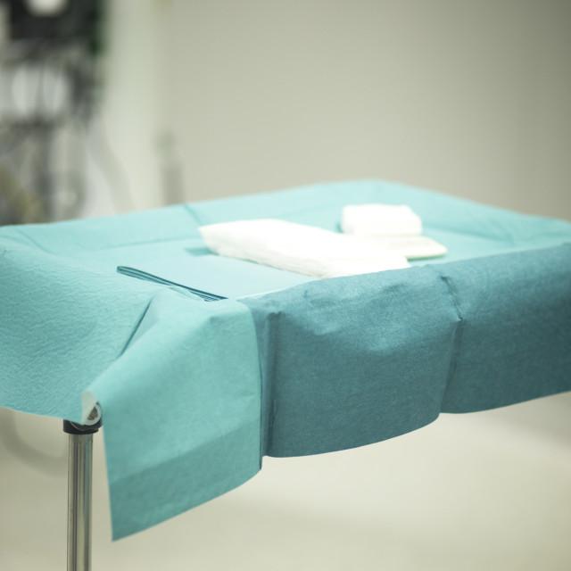 """Hospital emergency room table"" stock image"