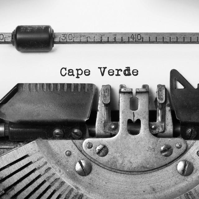 """Old typewriter - Cape Verde"" stock image"