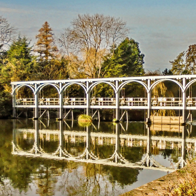 """""""Weir at Henley"""" stock image"""
