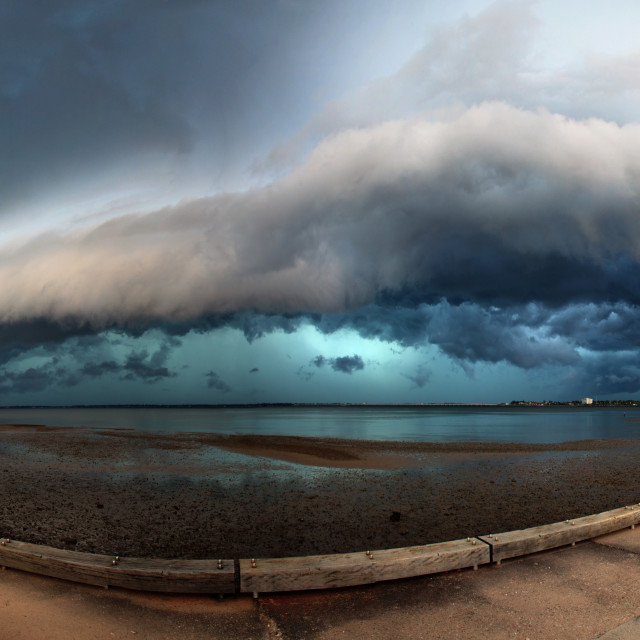 """Shelf cloud panorama"" stock image"