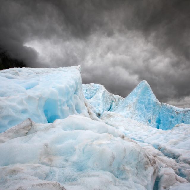 """Glacier ice"" stock image"