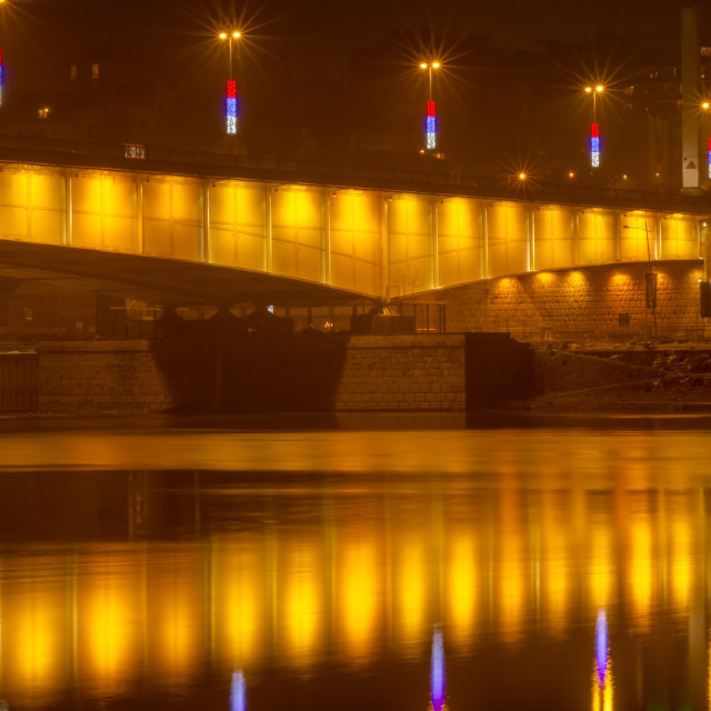 """Branko's bridge by night 5.jpg"" stock image"