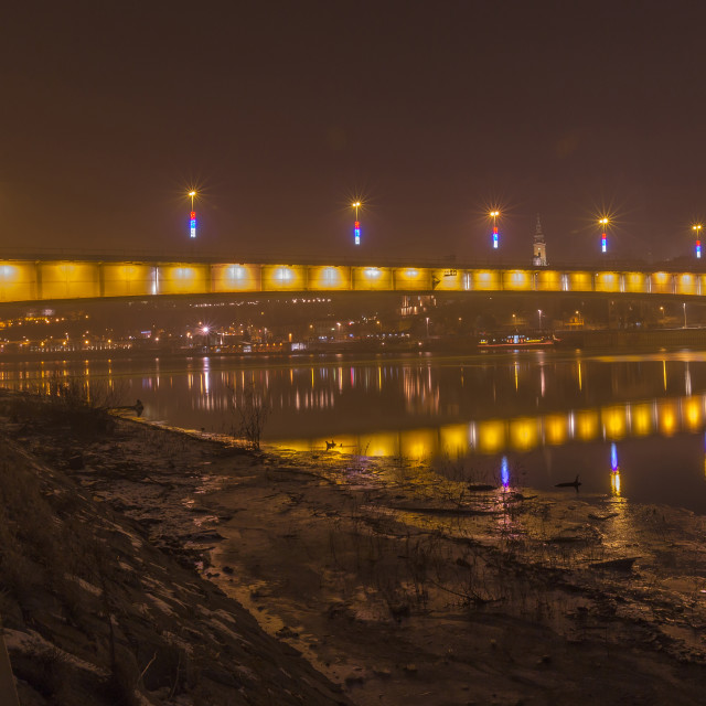 """Branko's bridge by night 4.jpg"" stock image"