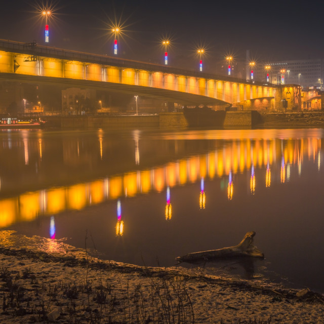 """Branko's bridge by night 8.jpg"" stock image"