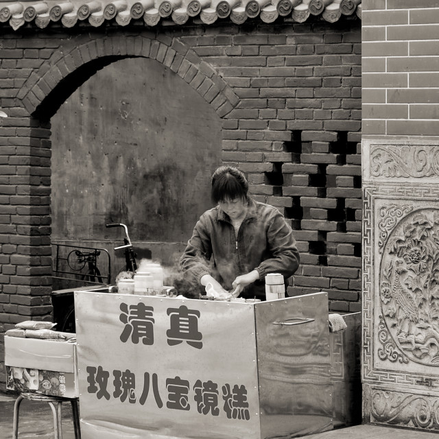 """""""Food Mobile Stall in Xi'an, China"""" stock image"""