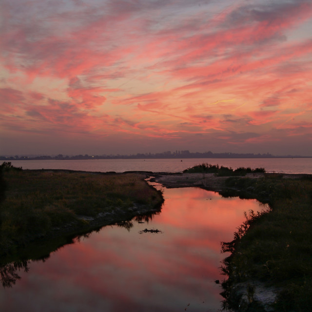 """Dawn. East Mersea"" stock image"