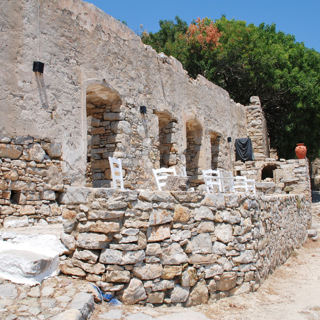 """Mikro Chorio ruins, Tilos"" stock image"
