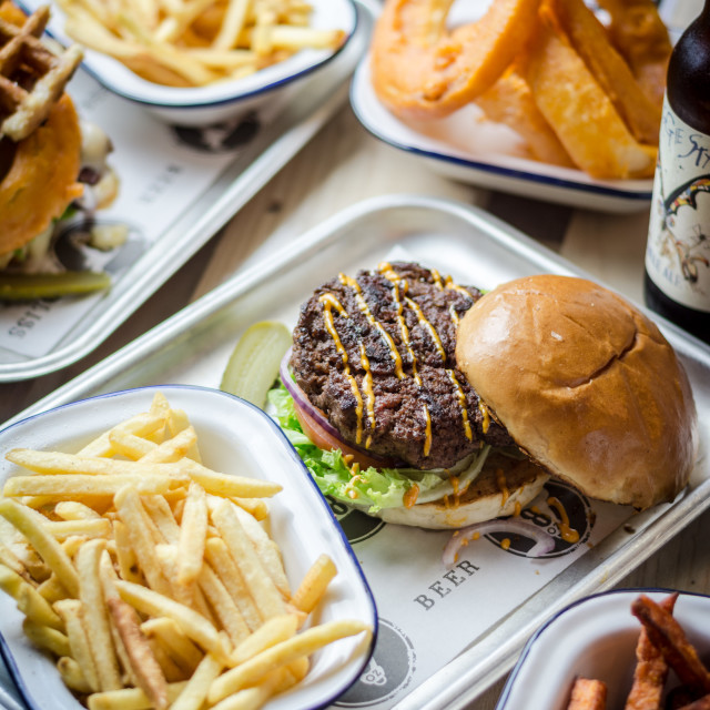 """""""Burger and Fries"""" stock image"""