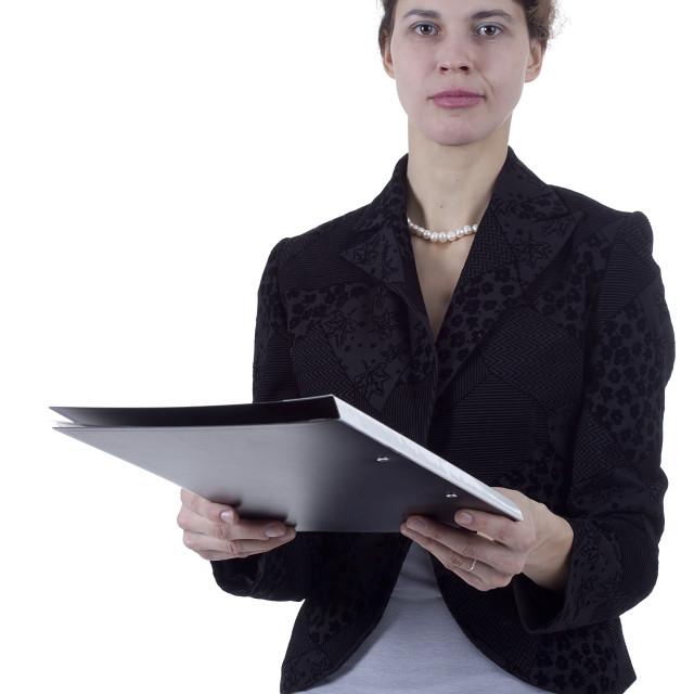 """Studio portrait woman"" stock image"