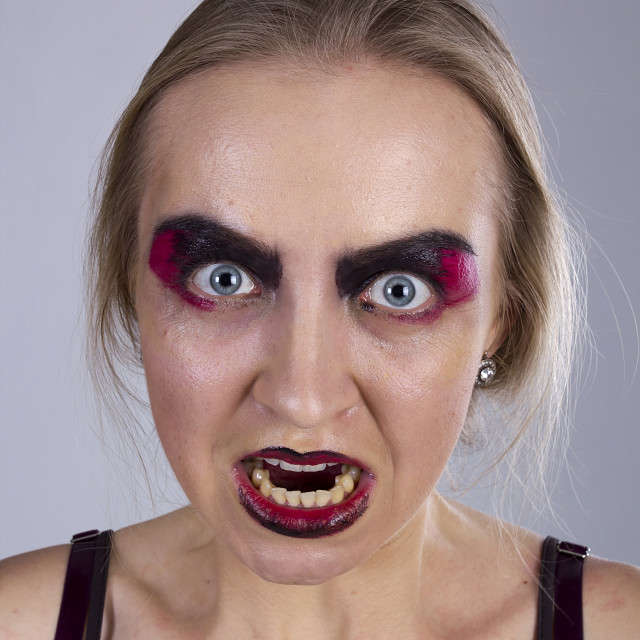 """""""Young woman in anger"""" stock image"""