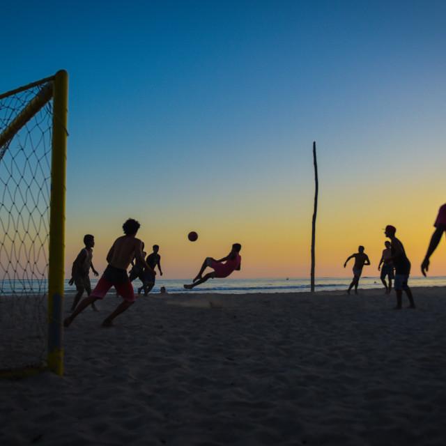 """Beach Football"" stock image"