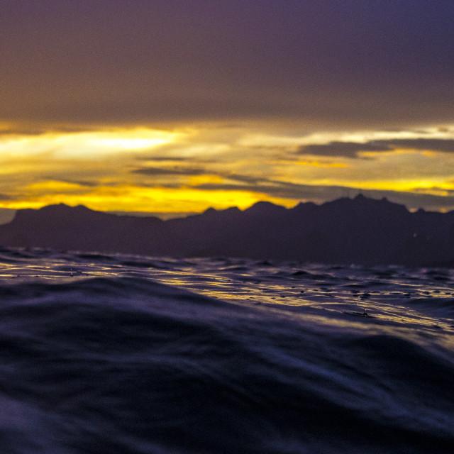 """Rio sunset"" stock image"