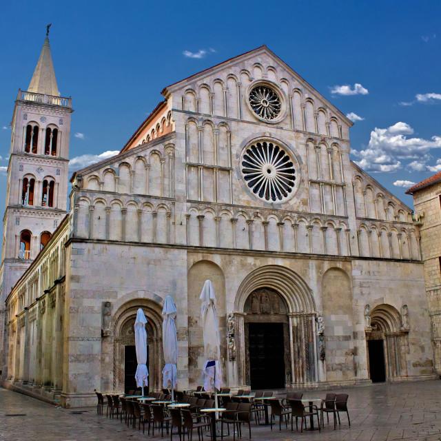 """Cathedral of Zadar, Calle larga, Dalmatia"" stock image"