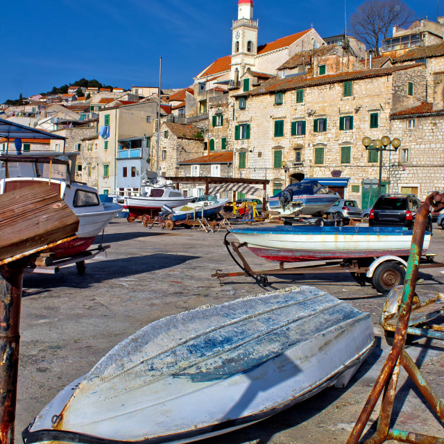 """Town of sibenik old waterfront"" stock image"