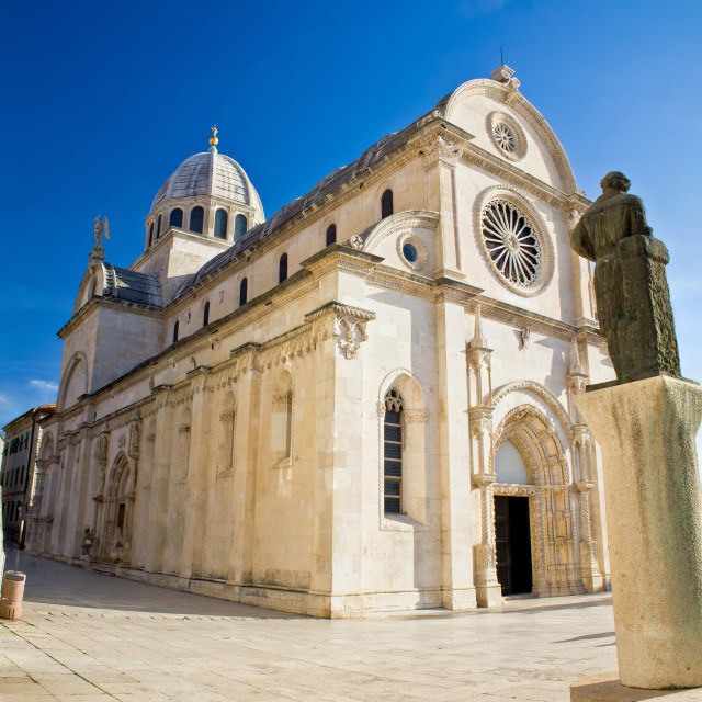 """The Cathedral of St James in Sibenik"" stock image"