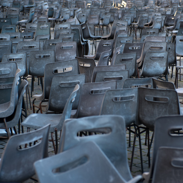 """Chairs in st peters square"" stock image"