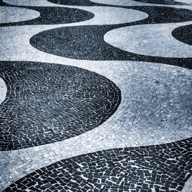 """Copacabana sidewalk"" stock image"