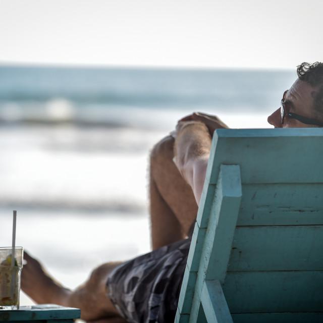 """Beach Chill"" stock image"