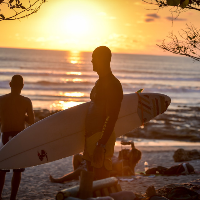"""Sunset Surf"" stock image"