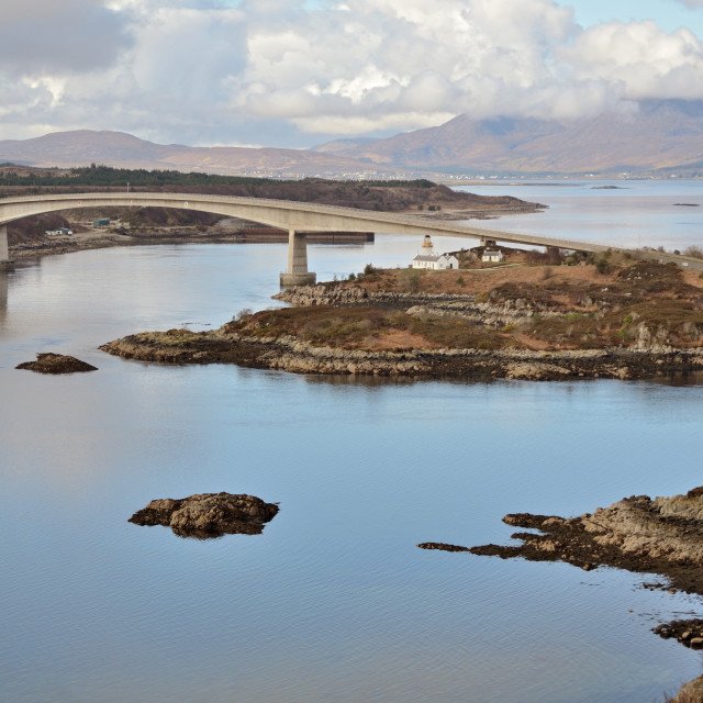 """Skye Bridge"" stock image"