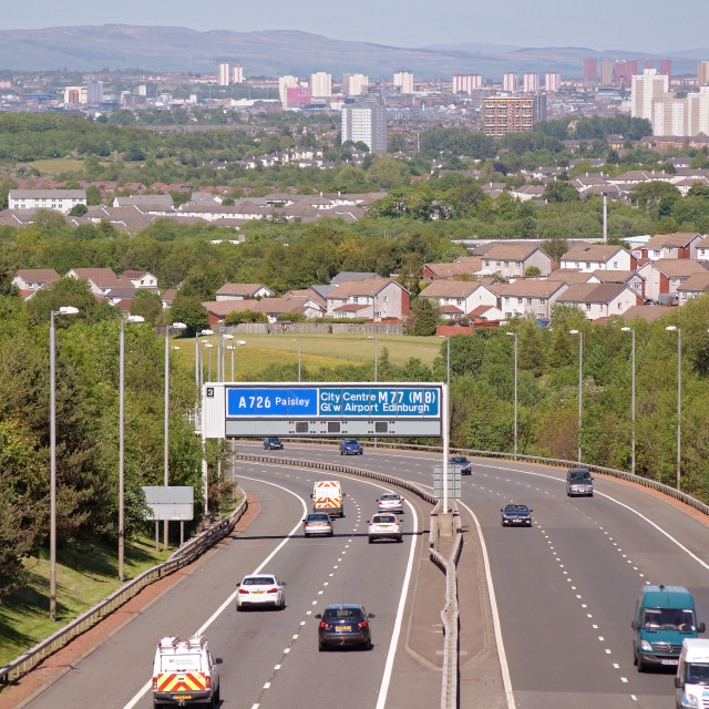 """Welcome to Glasgow"" stock image"
