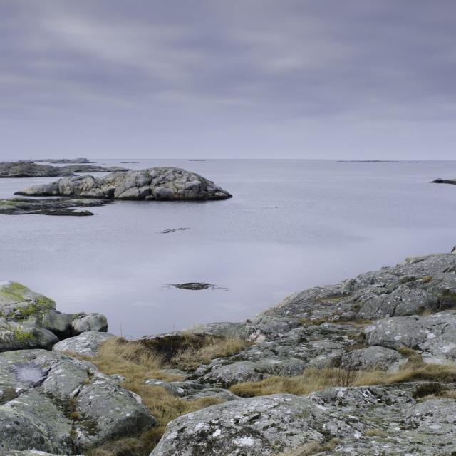 """""""sweden westcoast one little island outside Gothenburg"""" stock image"""