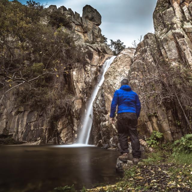 """ma and waterfall"" stock image"