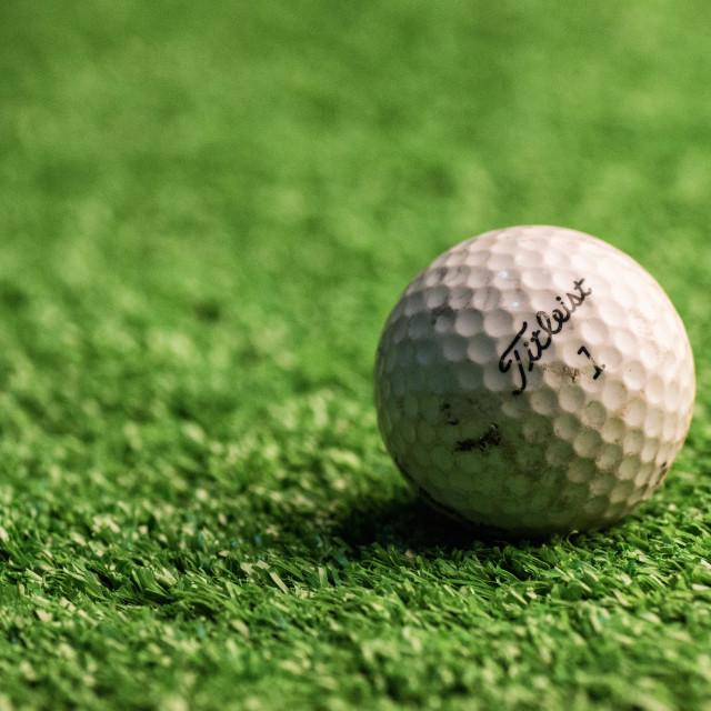 """Golf Ball"" stock image"